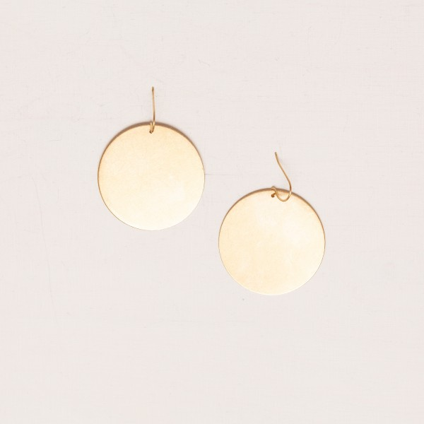 Earring Circle Brass XL