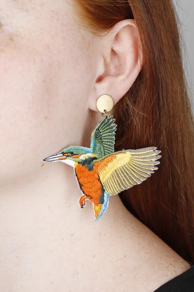 Earring Stud Bird Hummingbird