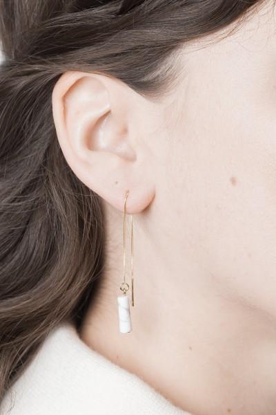 Thread Earring Gemstone Marble