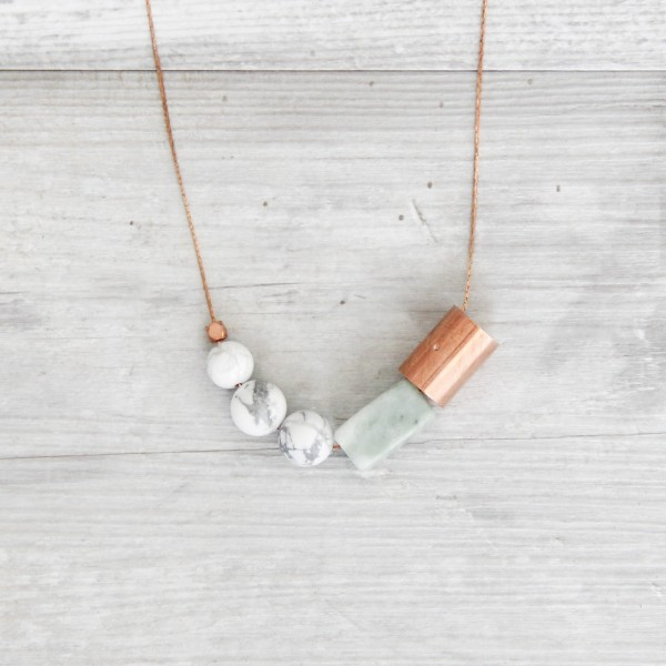 Necklace long Marble Copper