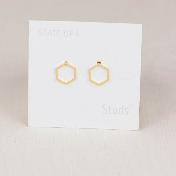 Studs Line Hexagon