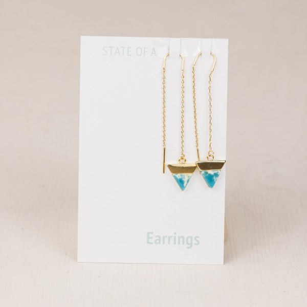 Threads Earring Triangle marble