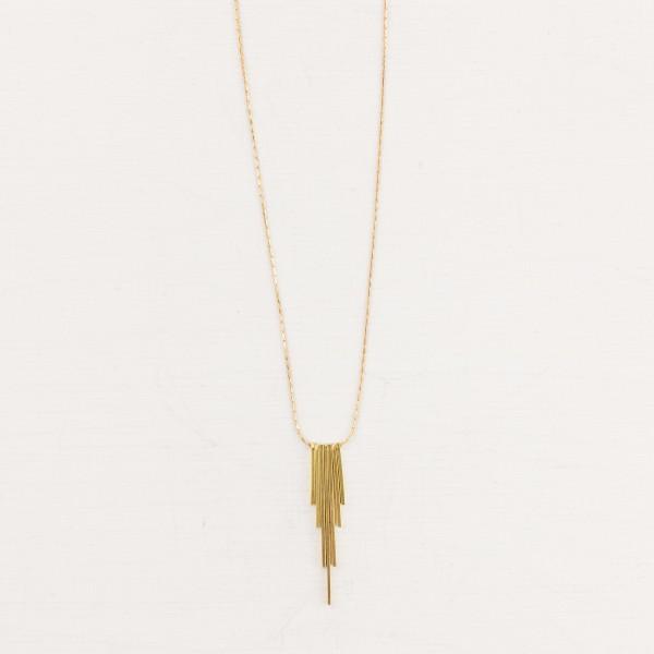 Necklace short Bar Fan geometric