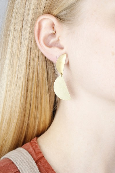 Earring Stud Semi Circles