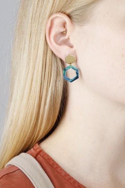 Earring Acrylic Hexagon