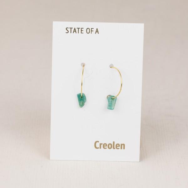 Earring Creole Gemstone