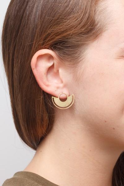Earring Stud Semi Circle