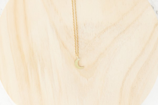 Necklace short Moon tiny