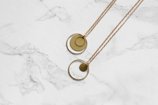 Necklace long Circles