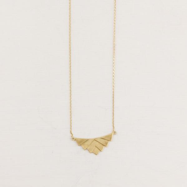 Necklace short Brass Fan