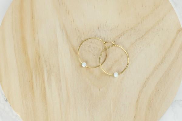 Earring Creole Gemstone Bead