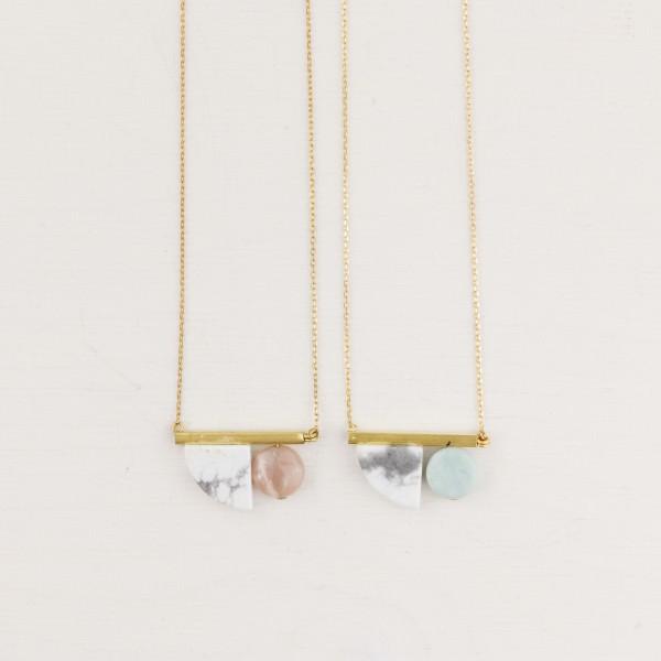 Necklace short GemTube asymmetrical