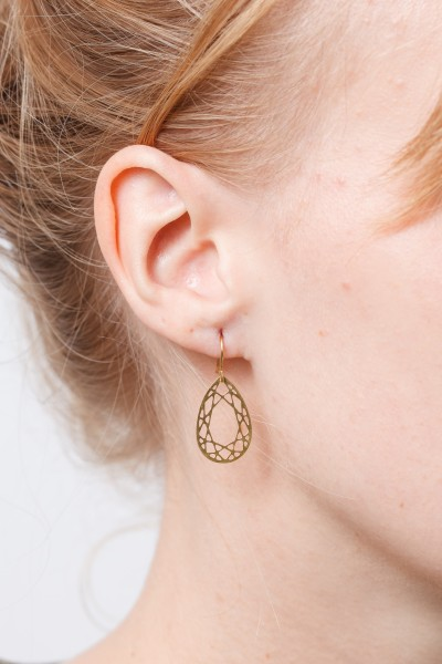 Earring lasered Drop