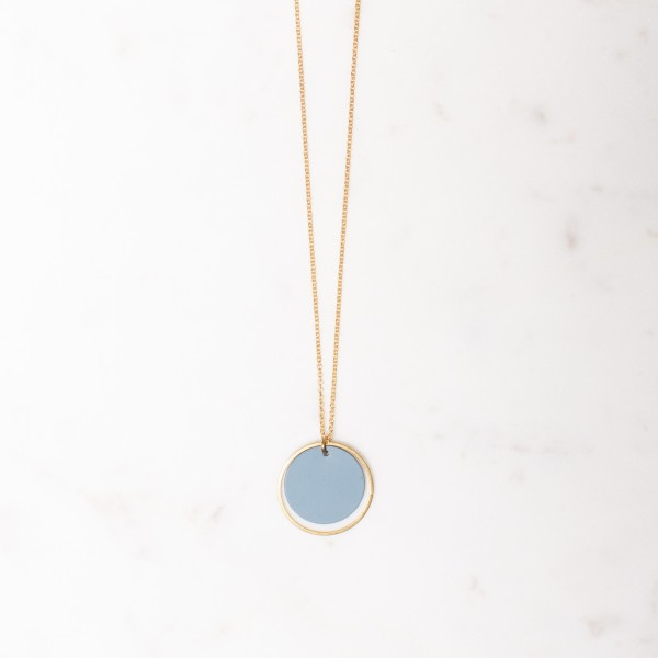 Necklace short Circle matt