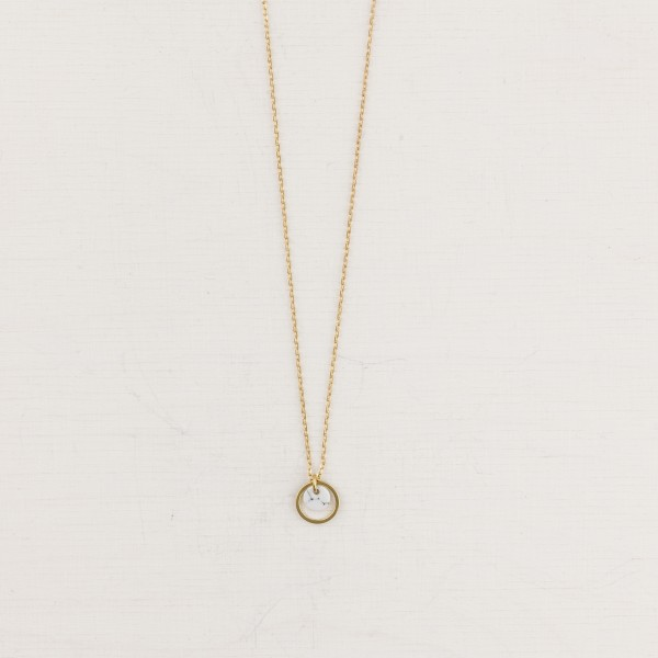 Necklace short Circle and Marble mini