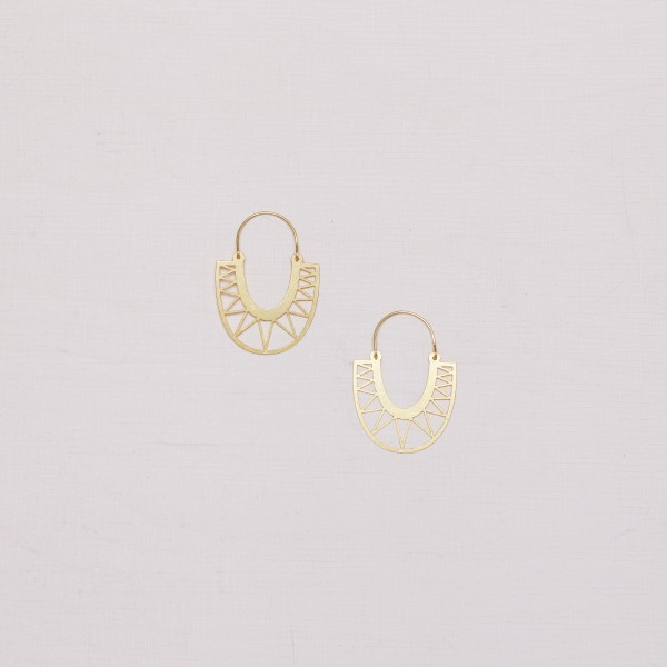 Earring Creole lasered