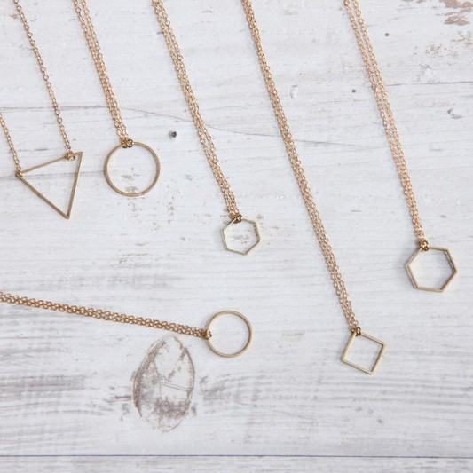 Necklace short simple Shapes