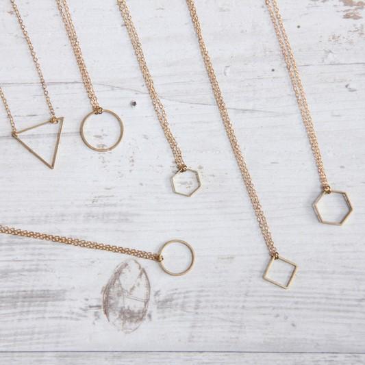 Necklace short simple Shapes