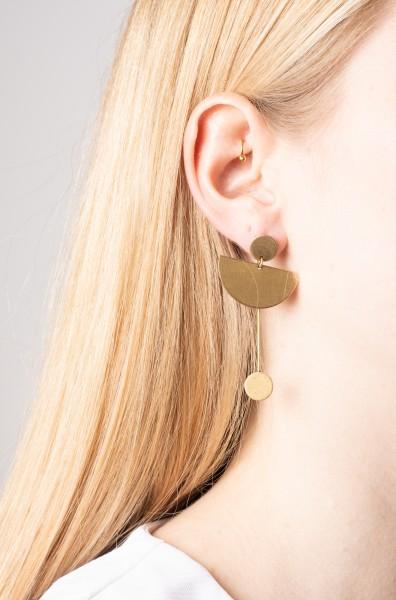 Earring Stud Semi Circle & Circles