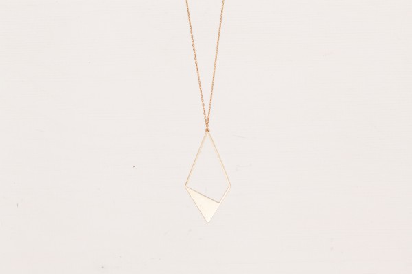 Necklace long Rhombus