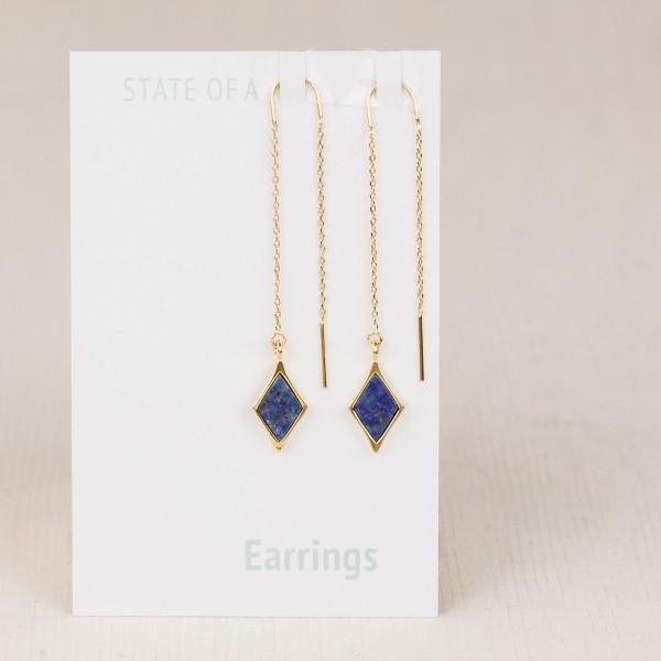 Thread Earring Diamond with Gemstone