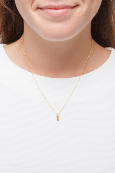 Necklace short pineapple