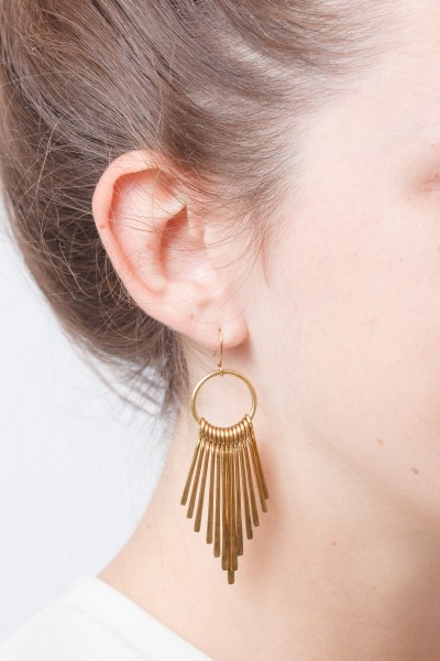 Earring Fan Brass