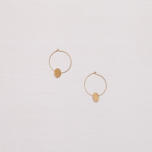 Earring Creole Circle frosted
