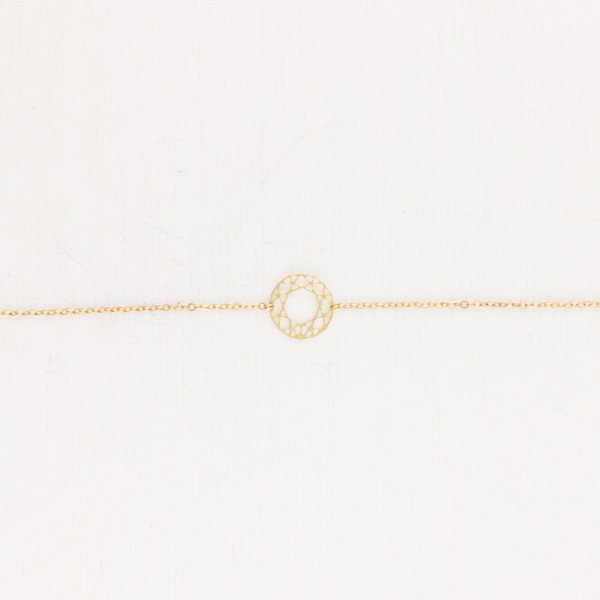 Bracelet lasered Circle