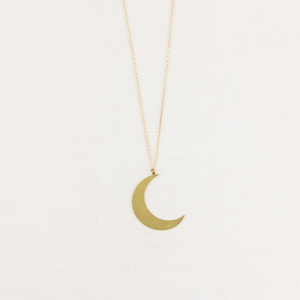 Necklace long Moon lasered