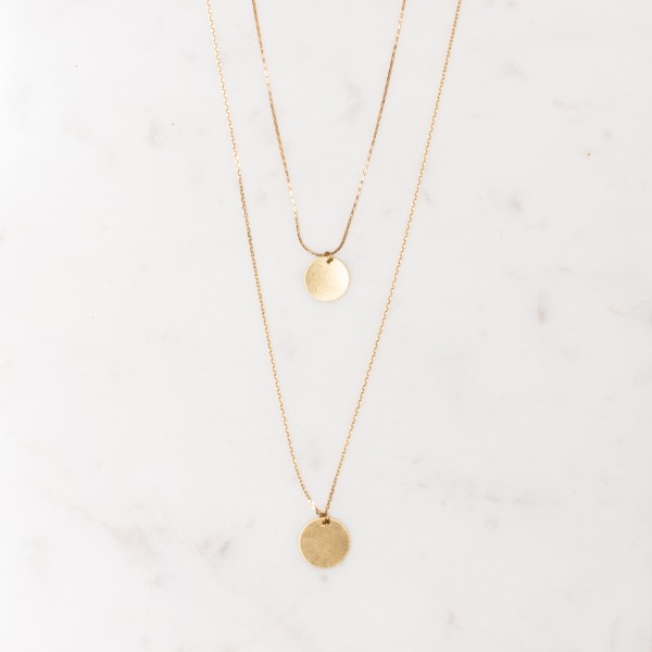 Necklace long layered