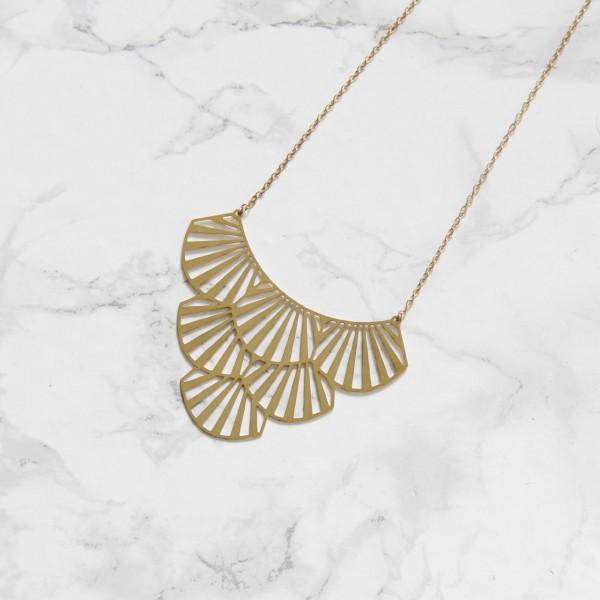 Necklace short Fans lasered