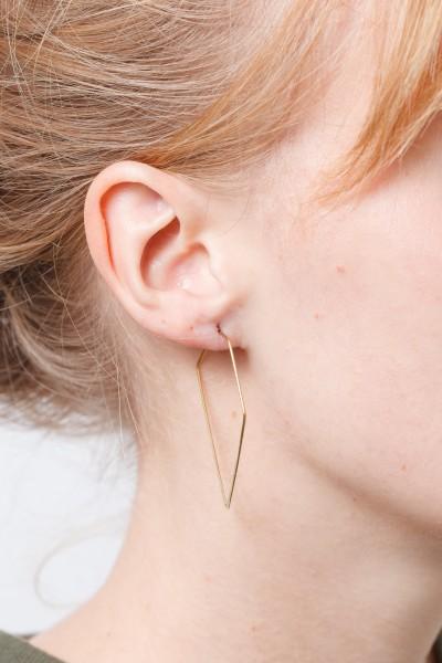 Earring Creole Line Diamond
