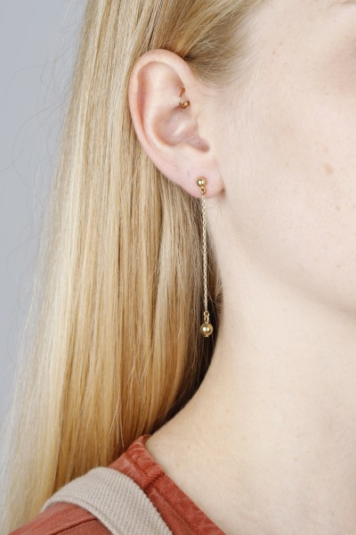Earring hanging Brass Bead