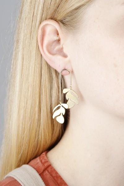 Earring Stud Leafes