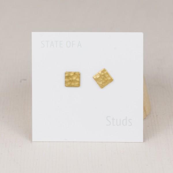 Studs Square brass