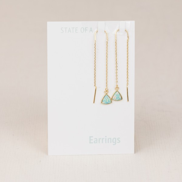 Thread Earring Opal
