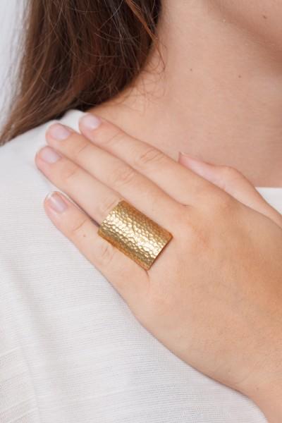 Ring big rectangle adjustable