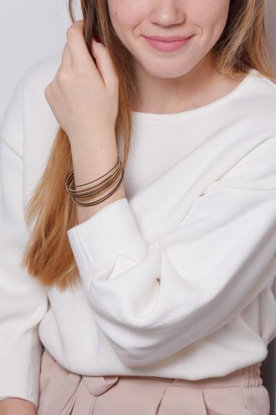 Cuff Bracelet Black & Gold
