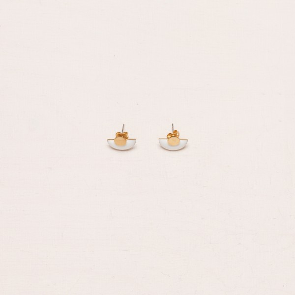 Earring Stud 2in1 Circle Enamel