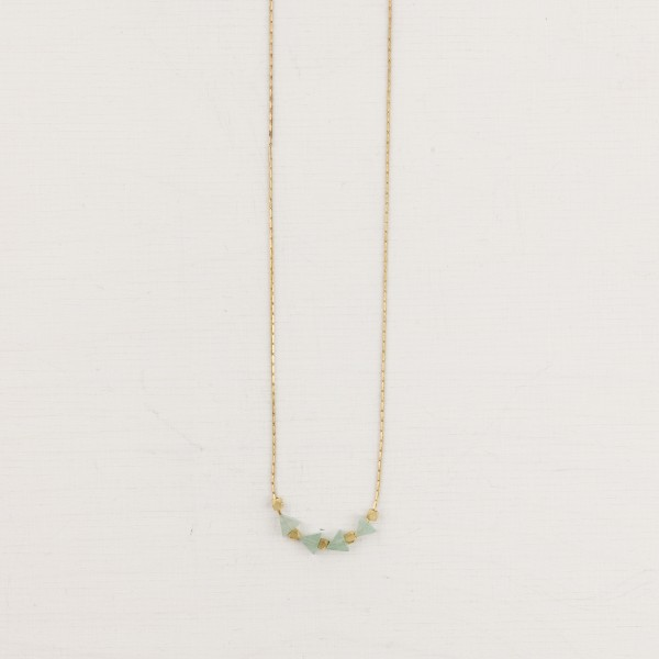 Necklace short Gem Triangle