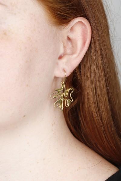 Earring brass Splash