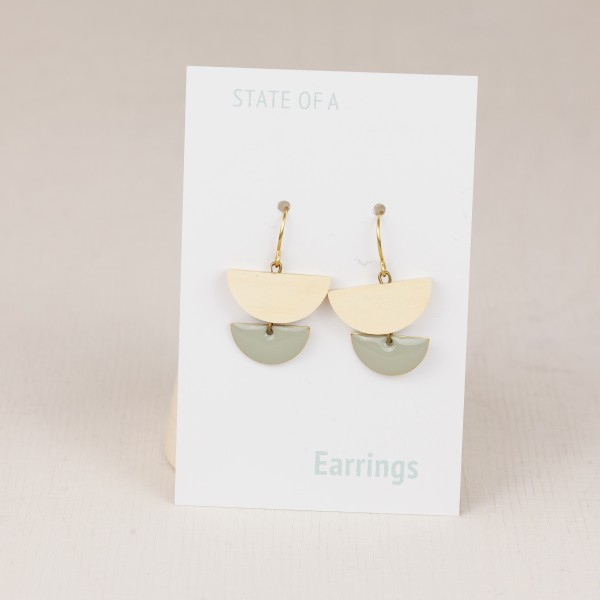 Earring Semi Circle Enamel
