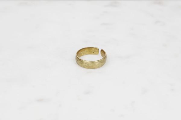 Ring Brass hammered