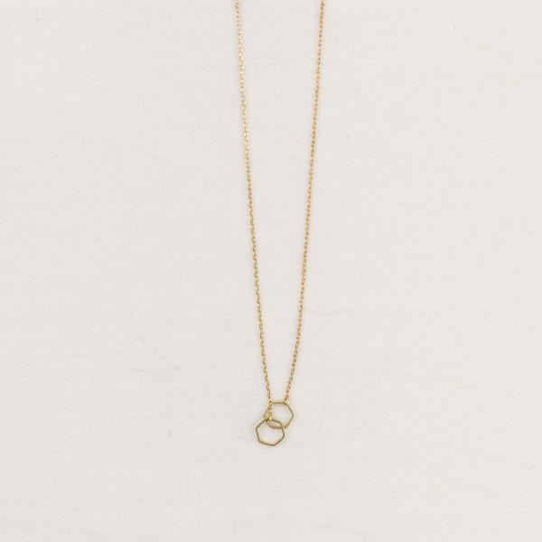 Necklace short Double Circle