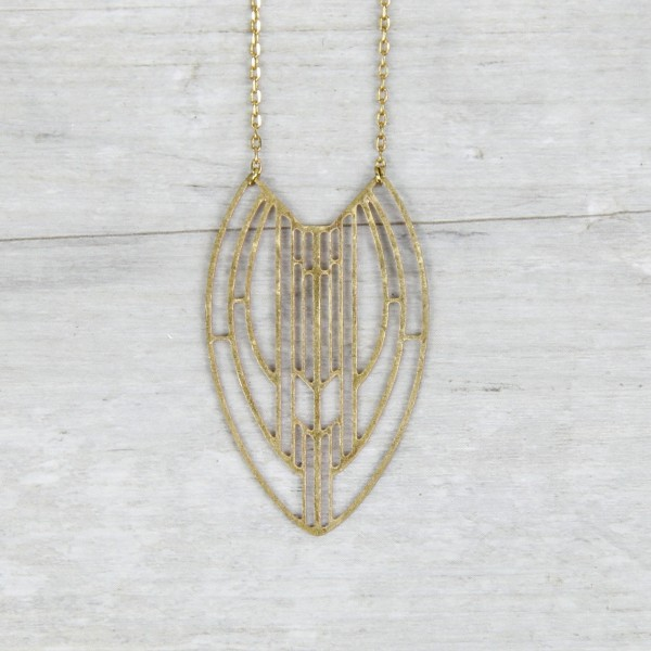 Necklace long lasered Shape
