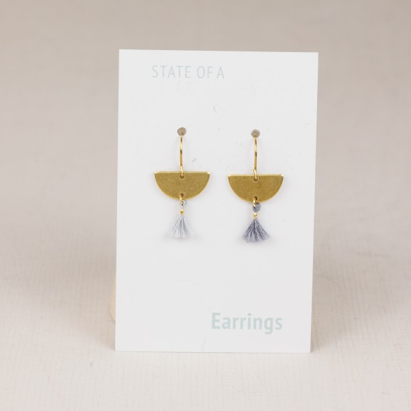Earring half Circle with mini Tassel