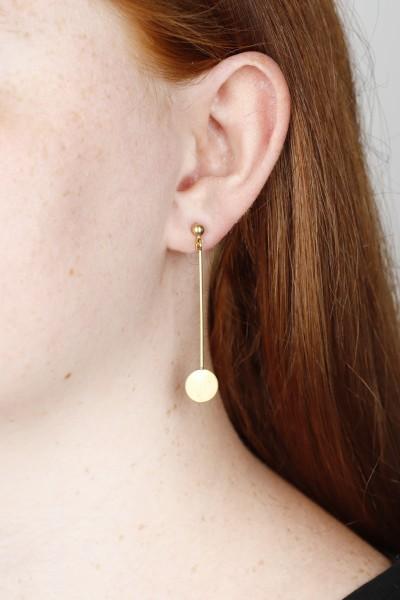 Earring Stud Brass Beads