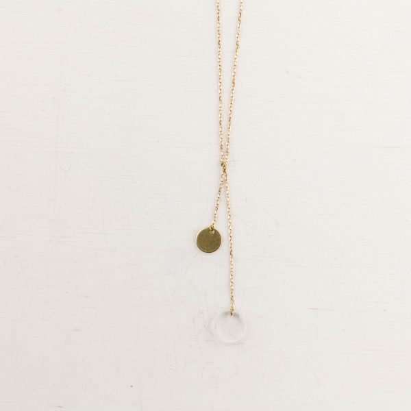 Necklace long Circles Acrylic