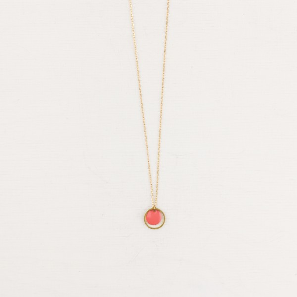 Necklace short Circle Enamel